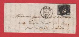 Lettre //   De Roanne //  Pour Donzy    //   1  Sept  1849 - 1849-1876: Classic Period