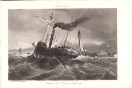 1837 - Gravure Sur Cuivre D´après Lepoitevin - Paquebot Du Hâvre à Cherbourg - FRANCO DE PORT - Estampes & Gravures