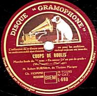 """78 Trs 30 Cm état EX   Robert BURNIER - COUPS DE ROULIS """"En Amour Il N'est Pas De Grade"""" """"Ce N'est Pas La Première Fois"""" - 78 Rpm - Schellackplatten"""