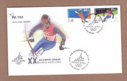 AC - TURKEY FDC - XXth OLYMPICS WINTER GAMES SKI ICE SKATING ANKARA 10 FEBRUARY 2006 - 1921-... República