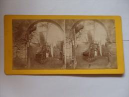 Photo Stéréos Vers 1865 For. 87x177 Tirage Albuminé Tiré Sur Carte Photo Château De Baden-Wurttemberg Land Allemagne. - Stereo-Photographie