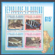 Burundi COB BL137 Fish-Vissen-Poissons 1996 MNH - Burundi