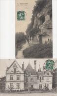 Lot 2 CPA Montlouis : La Petite Suisse + Chateau De La Bourdaisière Nord-est XV E Siècle Où Naquit Gabrielle D' Estrées - Sonstige Gemeinden