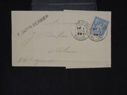 FRANCE - Type SAGE Perforé Sur Lettre Commerciale - A Voir - Lot N° 9292 - Perforés