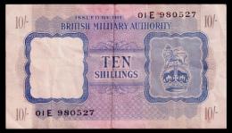 British Military 10 Shillings 1943 VF - Autorità Militare Britannica
