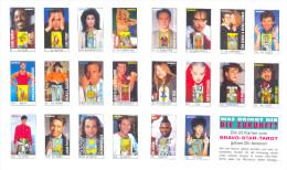 TAROT CARDS BRAVO BIG ARCANA-STAR TAROT 22 Pcs SMALL CARDS . (KEVIN COSTNER,CHER,VAN DAMME,EDDIE MURPHY.... - Tarots