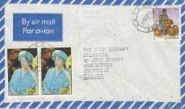 Zambia 1985 Lusaka Queen Elizabeth II Birthday Mother Cover - Zambia (1965-...)