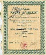 BANQUE FAURE & MIGEOT - Banca & Assicurazione