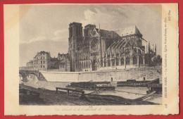Série Ancien Paris N°  458 :  Cathédrale Eglise Notre Dame En 1833  - Papier Parchemin - France