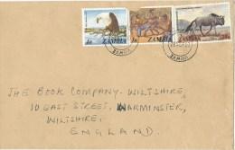 Zambia 1983 Lusaka Gnu Wildebeest 28n Cover - Zambia (1965-...)