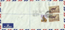 Zambia 1983 Chipata Yellow Backed Duiker Antilope Registered Cover - Zambia (1965-...)