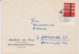 Bund Mi 380 Lied U Chor Aptierter PSt I Stempel Untergriesbach ü Passau Bf 1962 - Briefe U. Dokumente