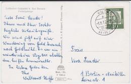Bund Bed Dt Mi 350 Aptierter PSt I Stempel Goldmühl ü Bayreuth Kte 1962 - Storia Postale
