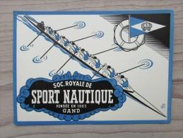 Cp/pk Zeefdruk Soc. Royale Sport Nautique Gand Gent - Gent