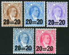 TURKEY 1959 (**) - Mi. 1627-31, ATATÜRK Surcharged Postage Stamps - 1921-... Republic