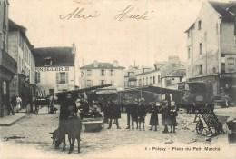 78-Poissy 1904 : Place Du Petit Marché (animée Par Commerçants, Enfants, Ane...) - Poissy