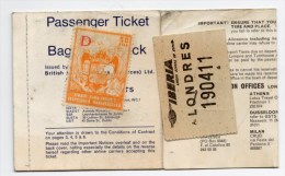 1968 - BILLET D´AVION / PASSENGER TICKET LINEAS AEREAS DE ESPANA Avec TIMBRE FISCAL - Europe