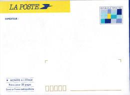 """Entiers Postaux - N° 2002-E - Enveloppe """"DISTINGO"""" Montée à L´étage - Logotype JO D´Alberville 92 - Postwaardestukken"""