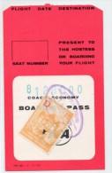 1971 - BILLET D´AVION / FLIGHT DATE DESTINATION Avec TIMBRE FISCAL - Plane