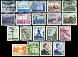 TURKEY 1959/60 (**) - Mi. 1697-1706; 1785-1793, Pictorial Postage Stamps - 1921-... Republic