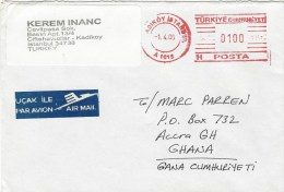 """Turkey 2006 Istanbul Meter Franking Hasler """"Mailmaster"""" """"YKr"""" Imbedded At Right A1015 Cover - 1921-... République"""