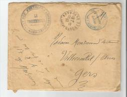 LETTTRE AVEC CACHETS MILUITAIRES DU 117 E REGT D'ARTILLERIE LOURDE AGEN 1919 - Marcophilie (Lettres)