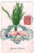 C.P.A. Fleurs Ajoutis - 1907 - Amitié Sincère - Myosotis Et Paquerettes Avec Graminées - Pour Poignée De Main - Flores