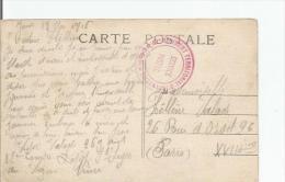 CARTE AVEC CACHET MILITAIRE DU 42 E REGIMENT TERRITORIAL D'INFANTERIE SERVICE POSTAL 1916 - Guerra Del 1914-18