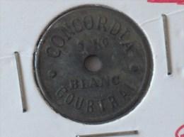 JETON CONCORDIA 1 KG BLANC COURTRAI CONCORDIA 1 KO WIT KORTRIJK - Monétaires / De Nécessité