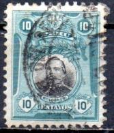 PERU 1918 Portraits - 10c.   - Black And Blue (Bolognesi)  FU - Peru