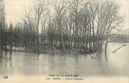 78-Poissy : Crue De La Seine -L'Ile De Migneaux (Publicité Potages Maggi) - Poissy