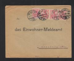 Dt. Reich Germania 4er Streifen IIa Geprüft Auf Brief - Briefe U. Dokumente