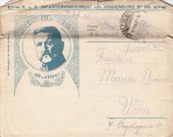 Brief K.u.K. INFANTERIEREGIMENT von HINDENBURG Nr.69, Feldpost gel.,1916, Brief mit Schreiben und Foto, Brief und ...