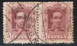 Par Sellos  5 Cts Alfonso XIII Vaquer, Fechador  BLANES (Gerona), Num 311 º - 1889-1931 Reino: Alfonso XIII