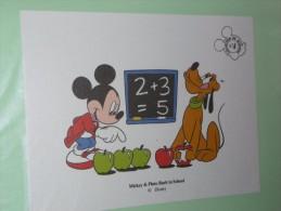 BUVARD COLLECTION N°4 MICKEY PLUTO Ecole  BACK TO SCHOOL DISNEY - Papelería