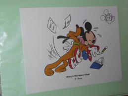 BUVARD COLLECTION N°3 MICKEY PLUTO Ecole  BACK TO SCHOOL DISNEY - Stationeries (flat Articles)
