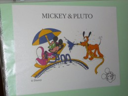 BUVARD COLLECTION N°9 MICKEY PLUTO Ecole  BACK TO SCHOOL DISNEY - Papelería
