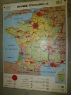 Carte Géographique Couleur (124cm X 90cm) Plastifiée 2 Faces  FRANCE économique Et FRANCE Population - Geographical Maps