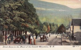 Street Scene In The Heart Of The Catskill Mountains New York