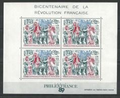 "TAAF Bloc YT 1 "" Révolution Française "" 1989 Neuf** - Blocs-feuillets"