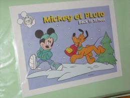 BUVARD COLLECTION N°35  MICKEY PLUTO Ecole  BACK TO SCHOOL DISNEY - Papelería
