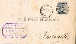 14604. Carta Impreso BERGAMO  1910. Consiglio Ospitalieri - 1900-44 Vittorio Emanuele III