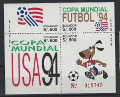 EC - 1994 -BLOCK 149 - FUTBOL ´94 - BLOCK --MNH --**-- POSTFRISCH - Equateur