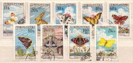 Czechoslovakia Used Set - Butterflies