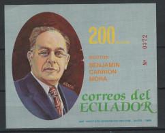 EC - 1989 -BLOCK 135 -  BENJAMIN CARRIÓN -- MNH -- ** -- POSTFRISCH - Equateur