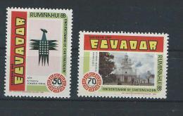 EC - 1989 -2111-2112 - SET- SATZ - RUMIÑAHUI -- MNH -- ** -- POSTFRISCH - Equateur