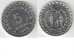 indonesia 5 rupiah 1979 km 43   unc