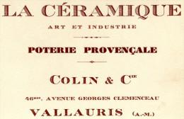 POTERIE(VALLAURIS) CARTE DE VISITE - Visiting Cards