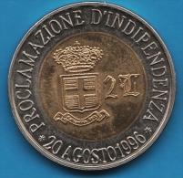 SEBORGA 2 Luigini  PROCLAMAZIONE D'INDEPENDENZA * 20 AGOSTO 1996 * GIORGIO I * - Italie