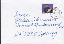 Germany Bundespost LÜBECK 1983 Cover Brief SØBORG Denmark Martin Luther Stamp - [7] Federal Republic